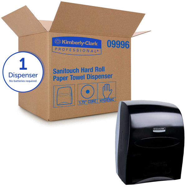 Janitorial and Cleaning Supplies,Dispensers,Paper Dispensers,KIMBERLY-CLARK,KCC09996CS,Kimberly-Clark Professional Sanitouch Hard Roll Towel Dispenser 09996