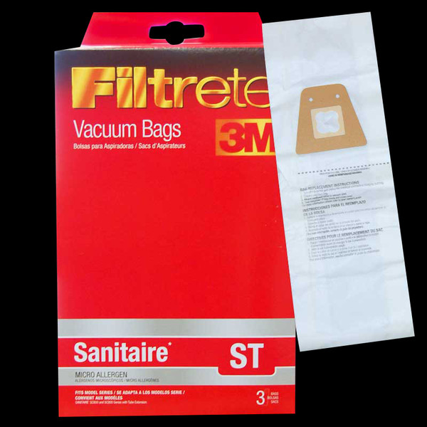 Bags and Parts,Bag and Filters,Paper Bags,SANITAIRE,67721,67721 Sanitaire St Bag 3M Filtrete Fits Models