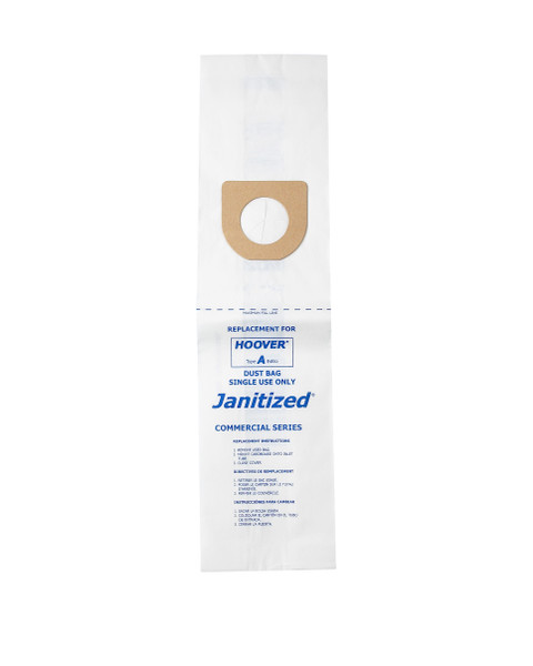 Bags and Parts,Bag and Filters,Paper Bags,HOOVER,JAN-HVA(3),Jan-Hva(3) Janitized Paper Bag