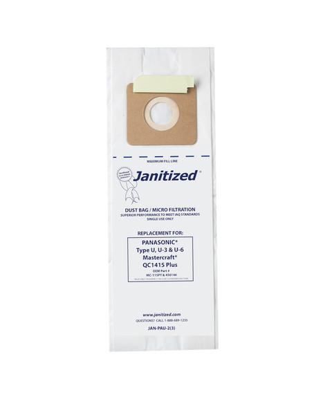 Bags and Parts,Bag and Filters,Paper Bags,PANASONIC,JAN-PAU-2(3),Jan-Pau-2(3) Janitized Paper Bag Panasonic