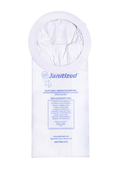Bags and Parts,Bag and Filters,Paper Bags,PROTEAM,JAN-PTMV-2(10),Jan-Ptmv-2(10) Janitized Paper Bag Proteam Mega Vac