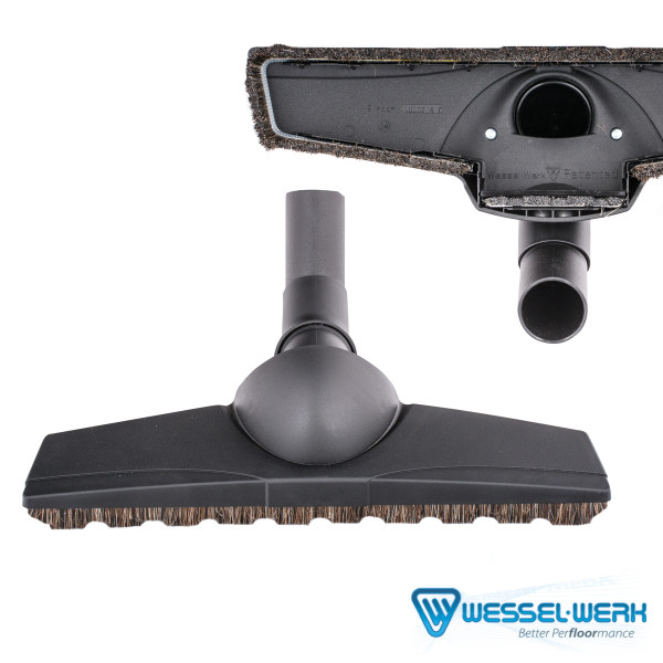 Bags and Parts,Parts and Accessories,Floor Brushes,VACUUM WAREHOUSE,TF110B,Tf110B Floor Brush Wessel Werk D330 Turn Amp; Clean Double Swivel