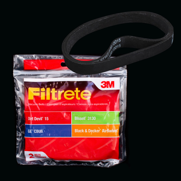 Bags and Parts,Parts and Accessories,Vacuum Belts,DIRT DEVIL,65015,65015 Dirt Devil 15 Vacuum Belt 3M Filtrete