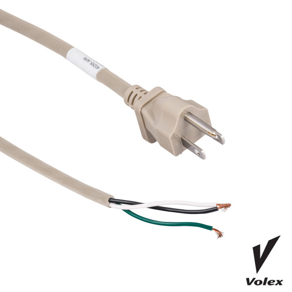 Bags and Parts, Parts and Accessories,10 Machine Cords,C615,C615,C615 Eureka 50 Beige 18 Guage 3 Wire Cord