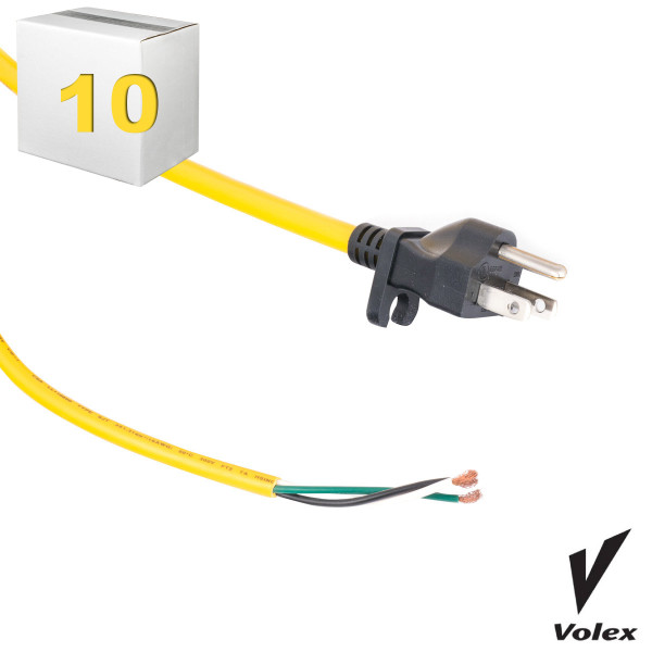 Bags and Parts, Parts and Accessories,10 Machine Cords,C610CS-10,C610CS-10,C610Cs-10 50 Yellow 16 Gauge Cord