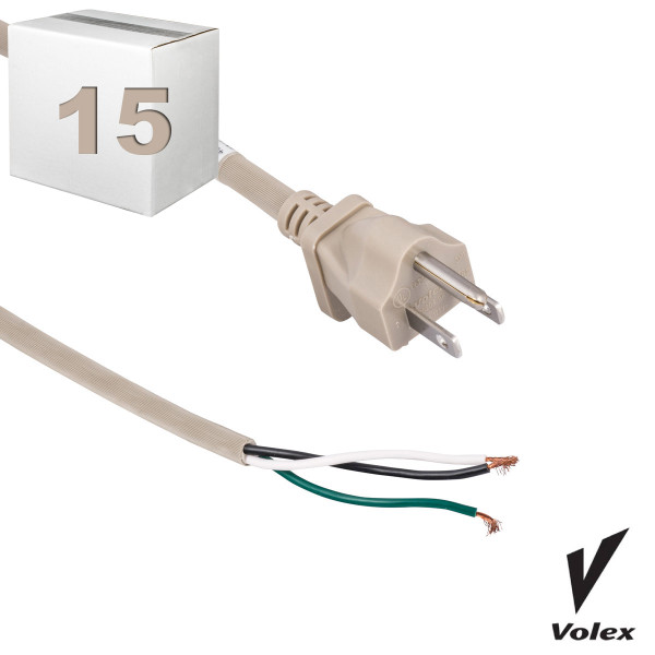 Bags and Parts, Parts and Accessories,10 Machine Cords,C615CS-15,C615CS-15,C615Cs-15 Eureka 50 Beige 18 Guage 3 Wire Cord