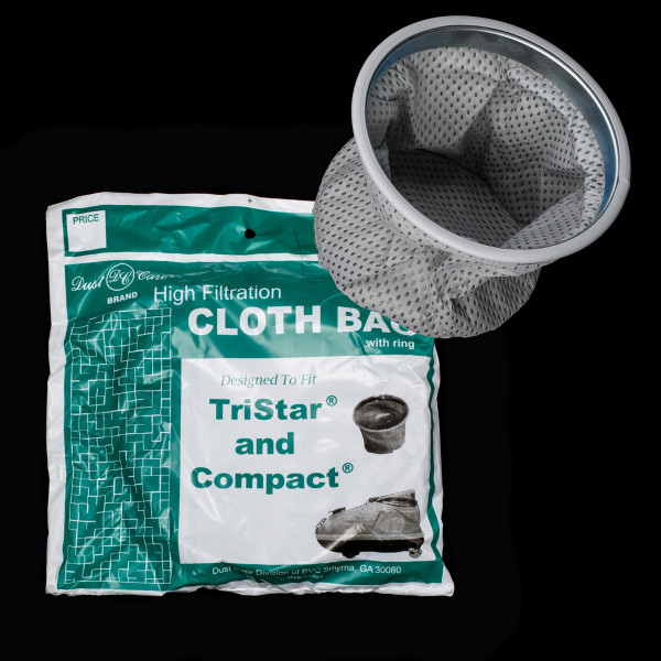 Bags and Parts,01 Bag and Filters,01 Cloth - Vinyl Bags,BC114,BC114,Bc114 Compact Tristar Cloth Bag With Metal Ring