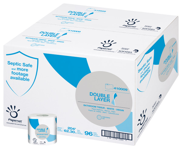 Janitorial and Cleaning Supplies, Disposable Paper, Paper Tissue,SOFIDEL,SOF4100,Sofidel Heavenly Choice Double Layer Bathroom Tissue Case Of 96 4100