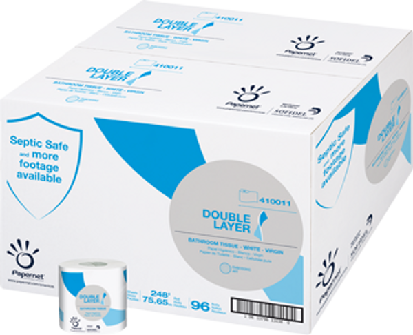 Janitorial and Cleaning Supplies, Disposable Paper, Paper Tissue,SOFIDEL,SOF410011,Sofidel Heaven Choice Single Roll Toilet Tissue Sof410011