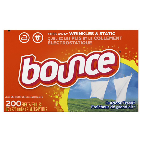 Janitorial and Cleaning Supplies, Cleaning Chemicals, Detergents,BOUNCE,PGC320,Bounce Outdoor Fresh 200 Use Pgc320