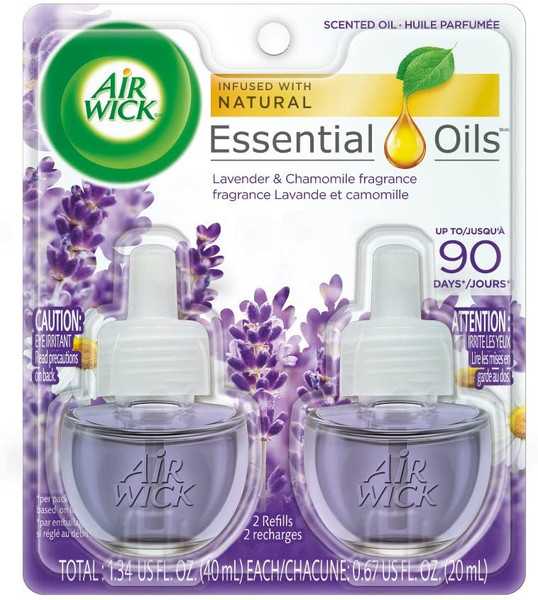 Deodorizers,AIRWICK,RAC78473,Airwick Scented Oil 2Pk Lavender And Chamomile Rac78473