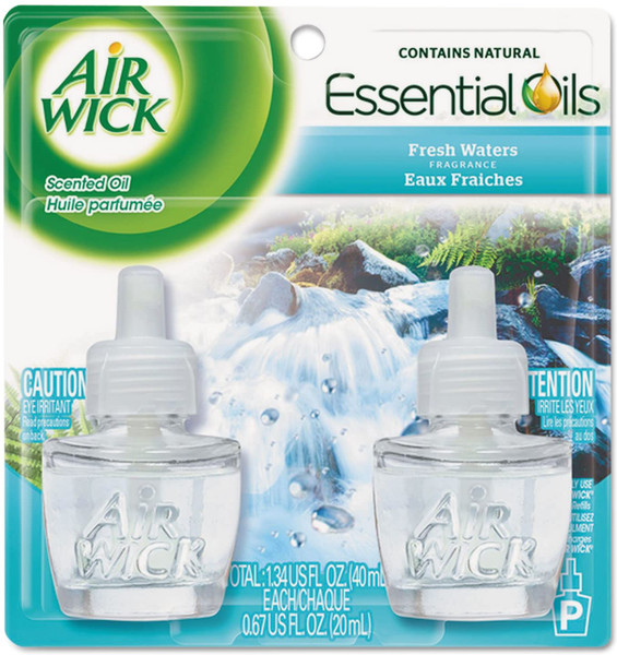 Deodorizers,AIRWICK,RAC79717,Airwick Scented Oil 2Pk Fresh Waters Rac79717