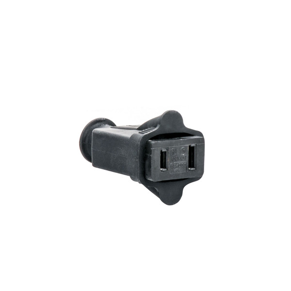 Bags and Parts, Parts and Accessories, Plugs - Receptacles,P195,P195,P195 Plug Female 2 Wire Rubber Black