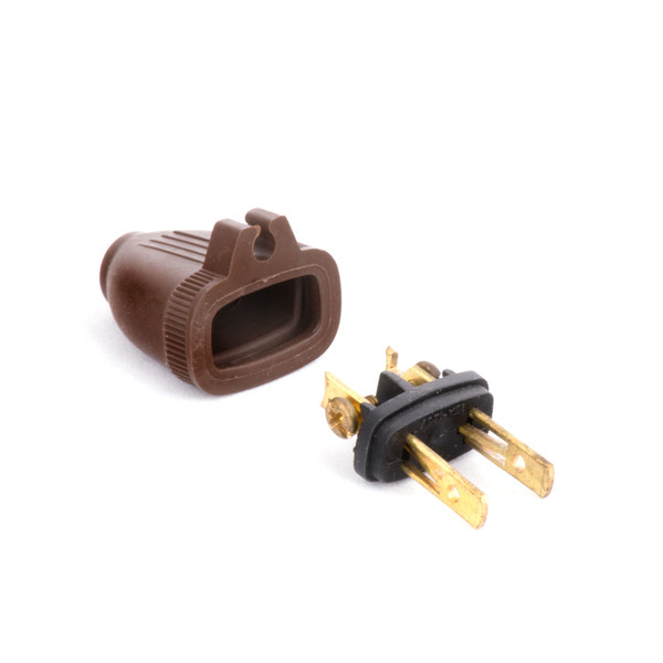 Bags and Parts, Parts and Accessories, Plugs - Receptacles,P200BR,P200BR,P200Br 2 Wire Plug With Grip Brown