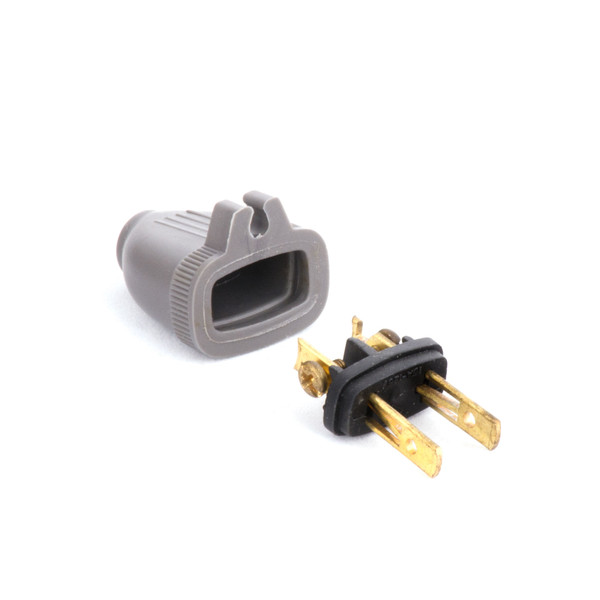 Bags and Parts, Parts and Accessories, Plugs - Receptacles,P200G,P200G,P200G 2 Wire Male Plug With Grip Grey