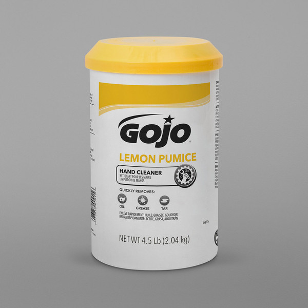 Janitorial and Cleaning Supplies, Cleaning Chemicals, Hand Cleaners,GOJO,315-0915-06,Gojo Lemon Pumice Hand Cleaner Waterless Creme Hand Cleaner In 4.5Lb 0915-06