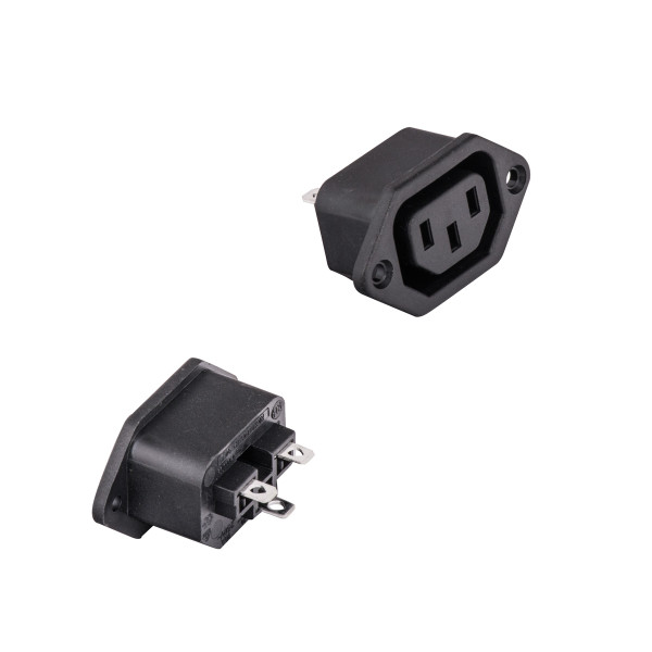 Bags and Parts, Parts and Accessories, Plugs - Receptacles,P908,P908,P908 Receptacle Plug Female 3 Wire Black