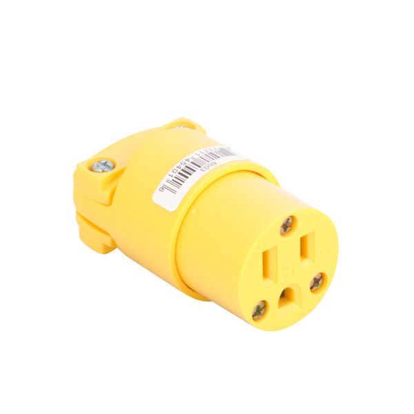 Bags and Parts, Parts and Accessories, Plugs - Receptacles,P917,P917,P917 Plug Female 3 Wire Yellow