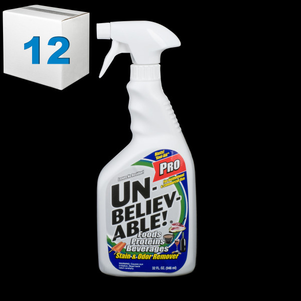 Janitorial and Cleaning Supplies,Cleaning Chemicals,Stain Removers,SJ144CS-12,SJ144CS12,Sj144Cs-12 Unbelievable Food Proteins Beverages Pro Stain And Odor Remover - Pack Of 12