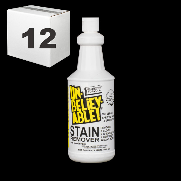 Janitorial and Cleaning Supplies,Cleaning Chemicals,Stain Removers,SJ141CS-12,SJ141CS12,Sj141Cs-12 Unbelievable Stain Remover - Pack Of 12