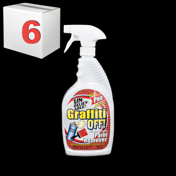 Janitorial and Cleaning Supplies,Cleaning Chemicals,Stain Removers,SJ148CS-6,SJ148CS6,Sj148Cs-6 Unbelievable Graffiti Off Pro 32 Ounce Paint Remover