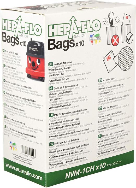 NUMATIC NVM 1CH HEPAFLO BAGS  (Pack of 10)