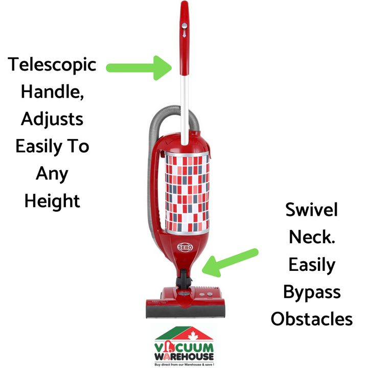 SEBO FELIX ROSSO UPRIGHT VACUUM CLEANER