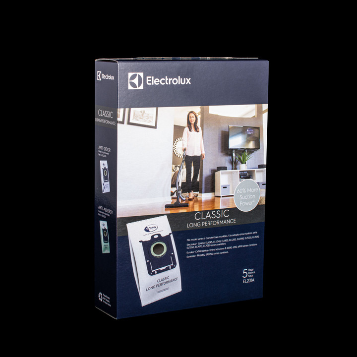 Bags and Parts,Bag and Filters,Hepa Bags,ELECROLUX,EL201,El201 Electrolux Oem S-Bag - Synthetic Electrolux