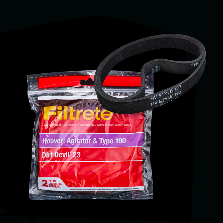 Bags and Parts,Parts and Accessories,Vacuum Belts,HOOVER,64190,64190 Hoover Dirt Devil Agitator Belt 3M Filtrete
