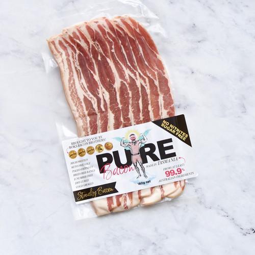 Pure Bacon - Streaky Bacon 180g