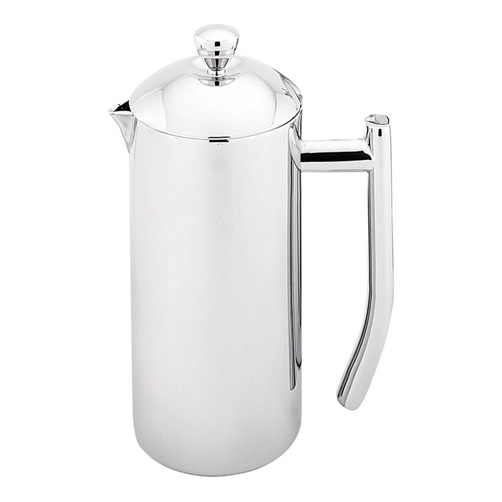 Sleek Twin Wall Coffee Plunger  - 1L / 8 Cup - Stainless Steel