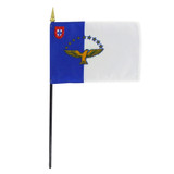 Azores 4in x 6in Stick Flag
