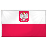 Poland State Flag and Civil Ensign 3ft x 5ft Super Knit Polyester