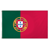 Portugal flag 3ft x 5ft Super Knit Polyester