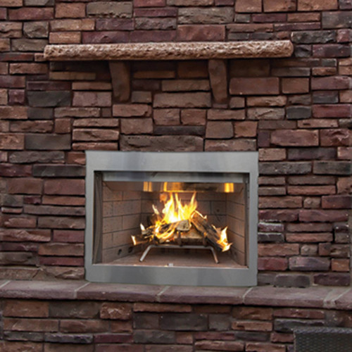 36'' Superior WRE Outdoor Woodburning Fireplace with White Brick