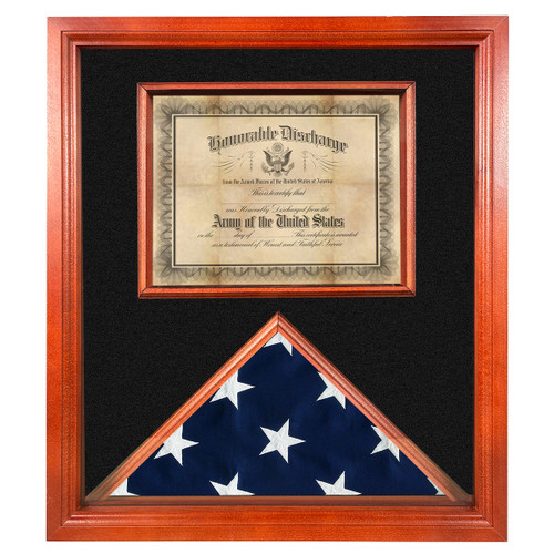Kennedy Cherry Flag and Certificate Display Case for 3' x 5' Flag