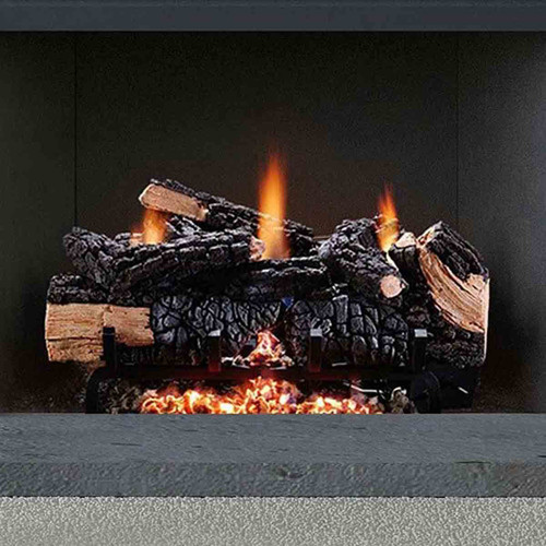 18'' Cumberland Charred Vent Free Gas Log Set w/Manual Valve - NG