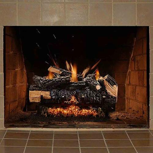 18'' Cumberland Charred Gas Log Set w/Variable Flame
