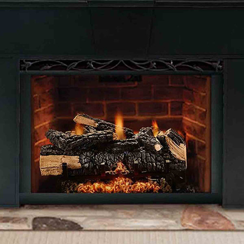 24'' Cumberland Charred Gas Log Set w/Variable Flame - LP