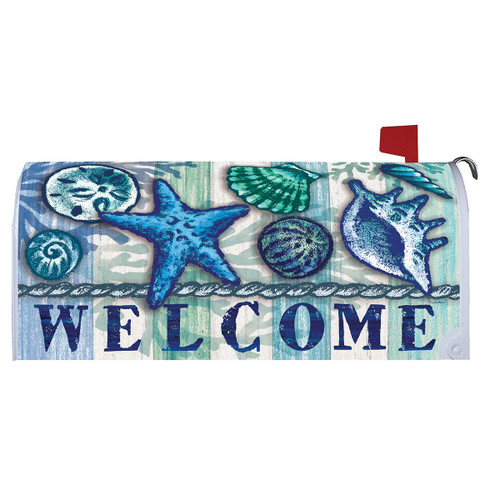 Summer Mailbox Cover - Welcome Shells