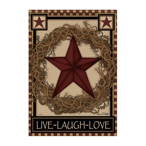Everyday Garden Flag - Star Wreath