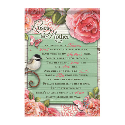 Bereavement Garden Flag - Roses