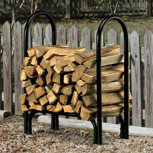 "HY-C 28"" Black Log Rack"