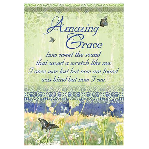 Bereavement Garden Flag - Amazing Grace