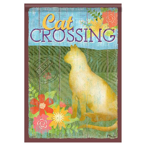 Animal Garden Flag - Cat Crossing