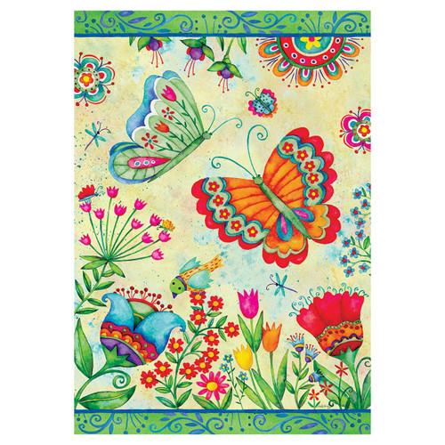 Spring Garden Flag - Butterfly Fun