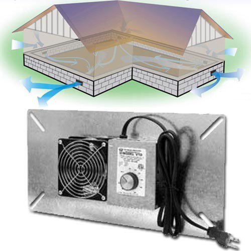 Tjernlund Crawl Space Ventilator - V1D