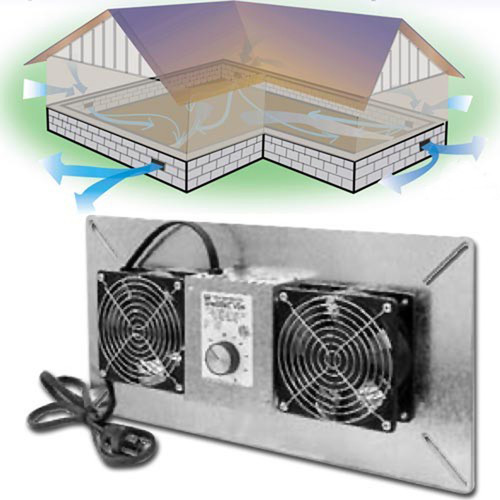 Tjernlund Crawl Space Ventilator - V2D
