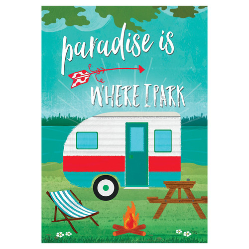 Summer Garden Flag - Paradise Camper