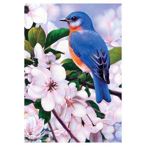 Spring Garden Flag - Captivating Bluebird